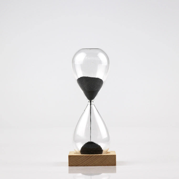 Wooden Magnet Base Magnetic Sand Hourglass For Interior Decoration And Gifts