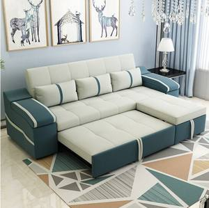 Modern Multifunction Furniture Living Room Fabric Pull Out Folding Sofa Come Bed