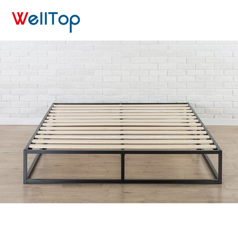 Fashion factory made metal wood bed modern for sale T-14.027