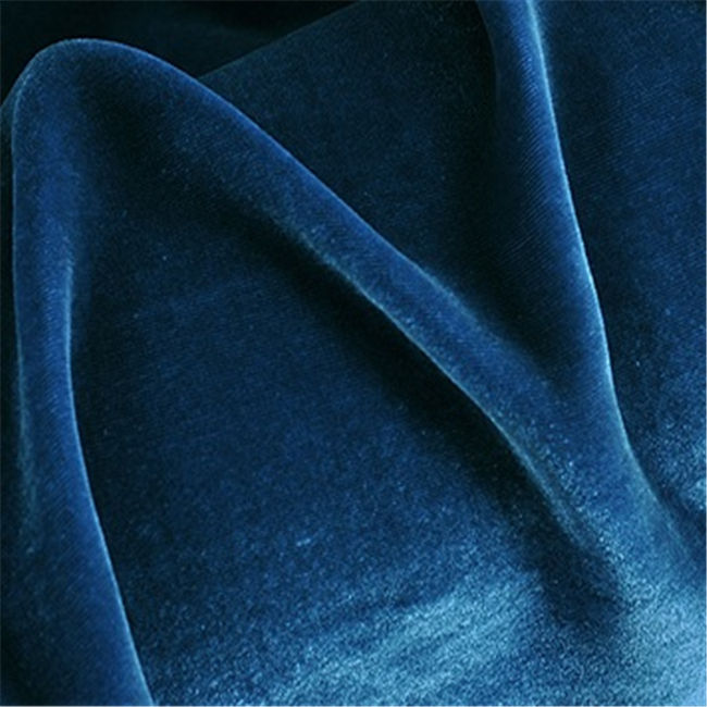 Soft Dyed Silk Velvet Upholstery Fabric Luxury Fabric for Home Textile Garment