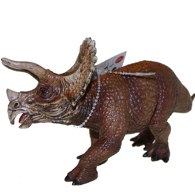 PVC Animal Type Kids Toys Plastic Dinosaur Toy Figures Triceratops Shantou Wholesale