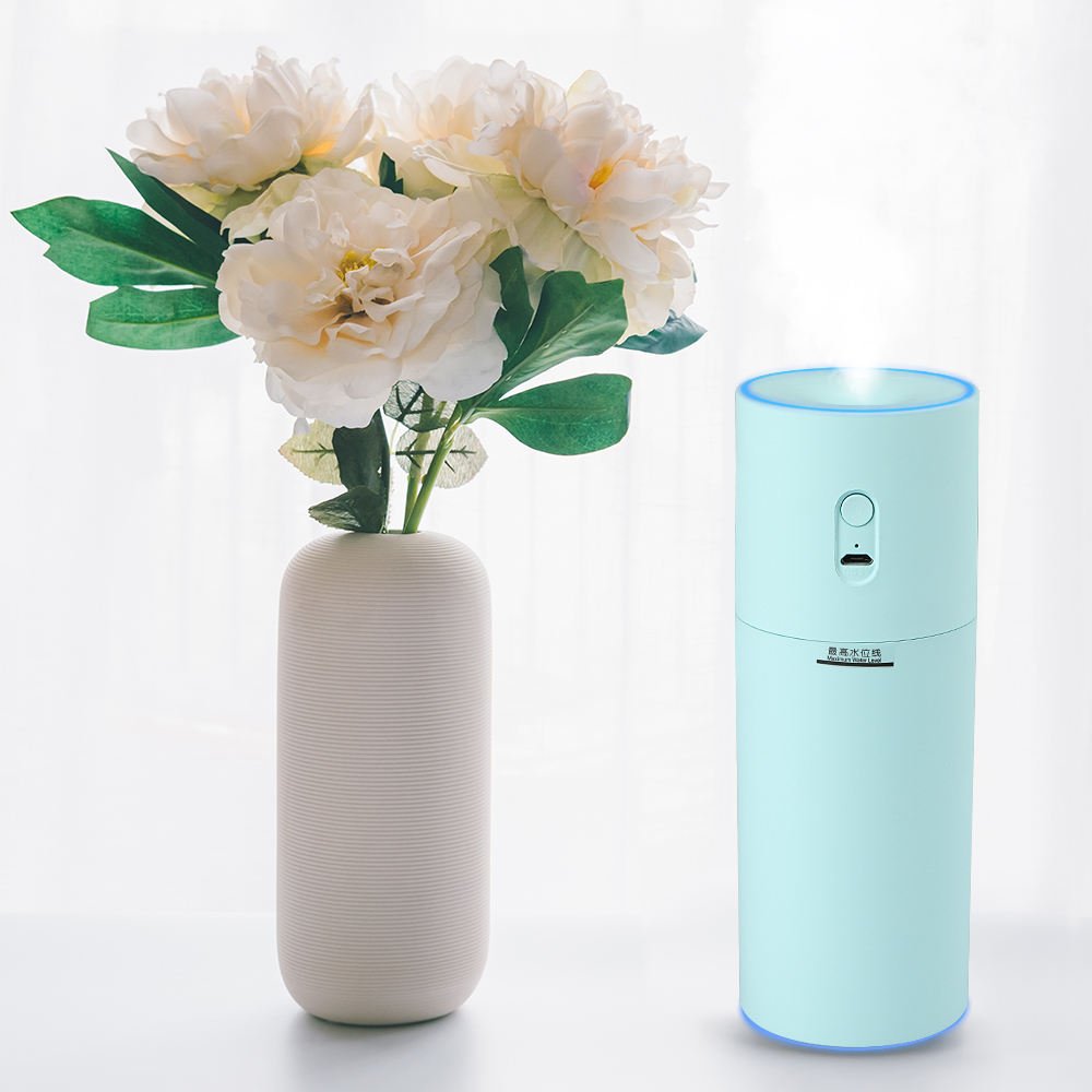 Hot Selling 300ml Ultrasonic Colorful Nightlight Mini Air Purifier Humidifier Portable Usb Rechargeable Air Diffuser For Car
