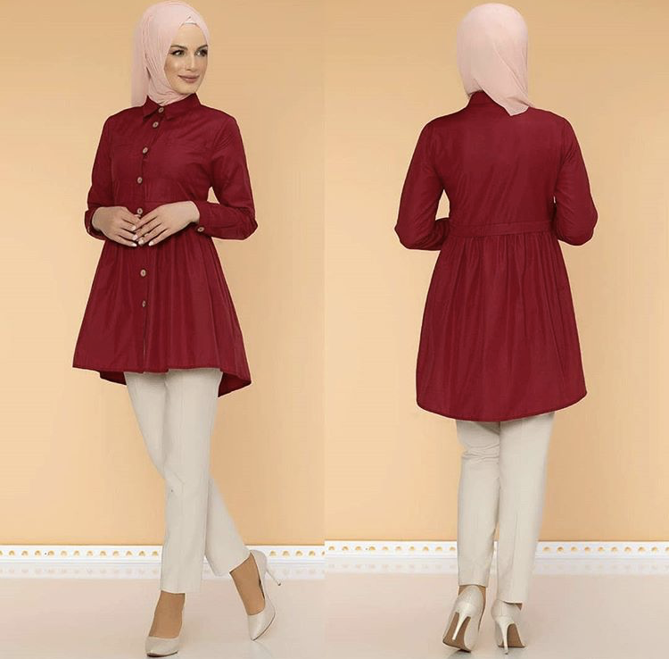 new arrival women loose muslim dress blouse for islamic muslim blouse
