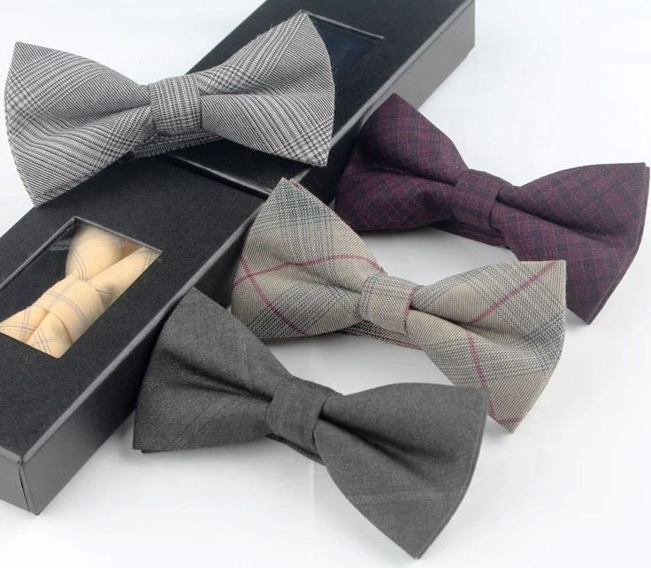 High Density Handmade Bowtie Handkerchief Gift Set For Men Boys