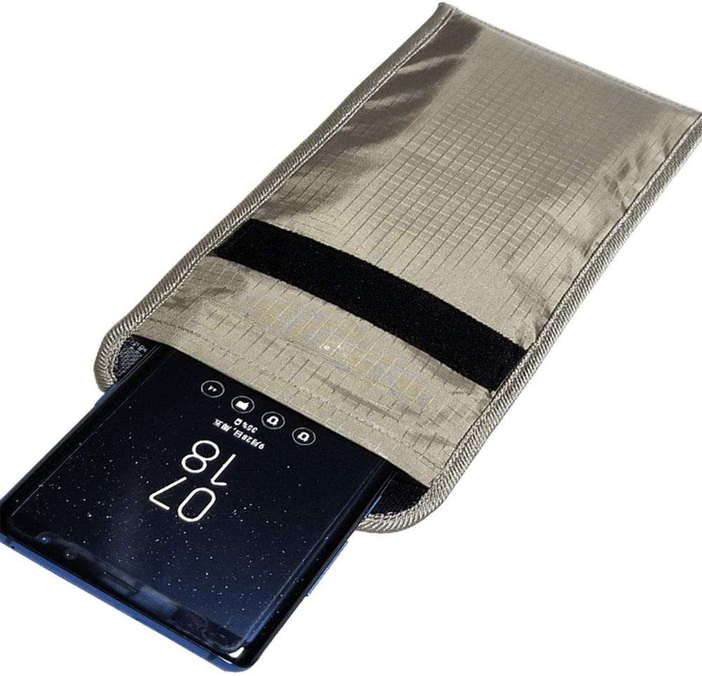 Security Pouch Cell Phone Anti-Tracking Anti-Spying GPS RFID Signal Blocking Bag Shielding Pouch Wallet Case