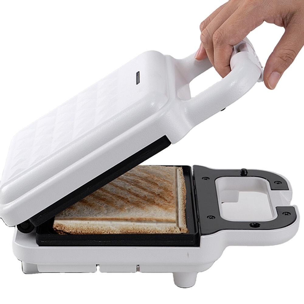 Compact Panini Press + Electric Panini Grill Bread Maker Toasting, Grilling, Waffles, Omelets Indoor and Cool Touch handle