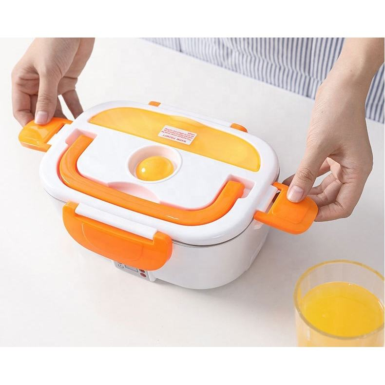 Electric Heating Lunch Box Car Household Stainless Steel heating Lunch Box Plug-in Insulation Lunch Box