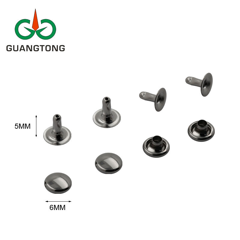 Dongguan Manufacturer 6mm Single Cap Brass Rivets for Handbags Purses Leather Garments