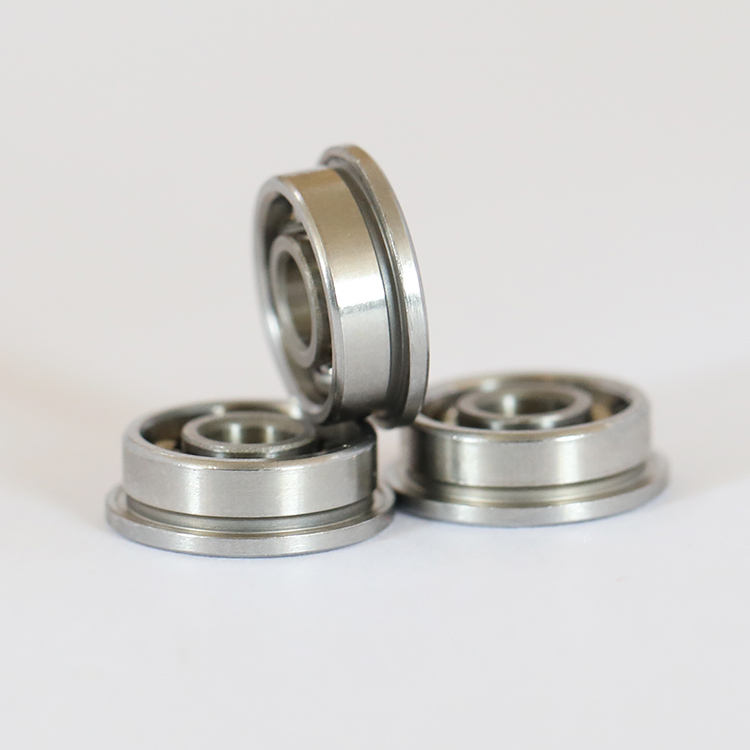 De acero inoxidable MF63 MF83 MF93 ZZ flanged ball bearing