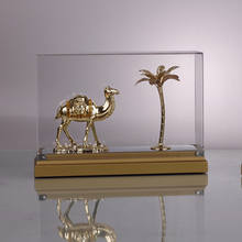 China Factory High Quality Metal Gold Plated Model, Camel Llama Decoration Model For Home Decor