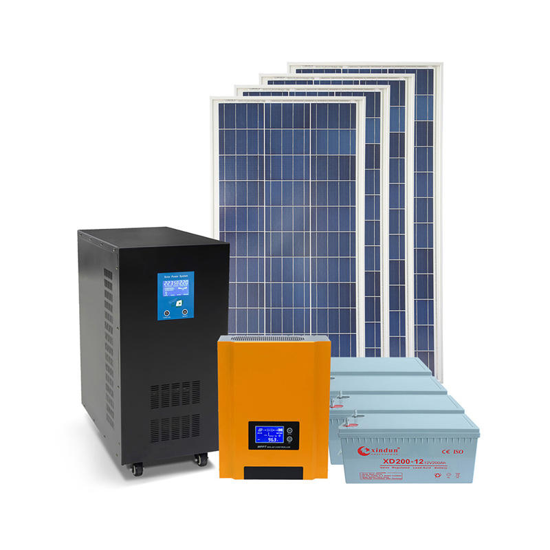 complete home off grid solar power system solar panel system DC AC 10kw solar system