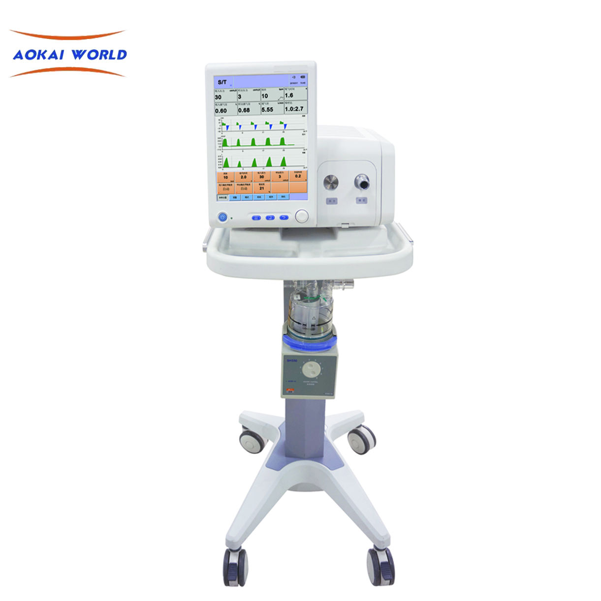 CE and ISO Certificate Hospital Used Medical Ventilator Machine AKH-8010 Non-invasive Ventilator With CPAP In Stock