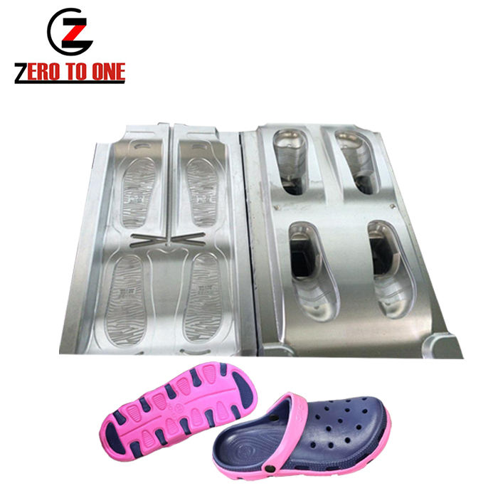 100% CNC Made EVA Clogs Shoes Mold Injection Mould By 7075 Aircraft Aluminium