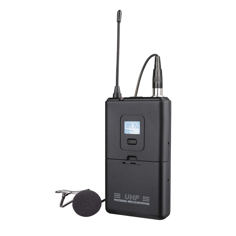 Professional 2 in 1 uhf lapel collar wireless microphone for teacher