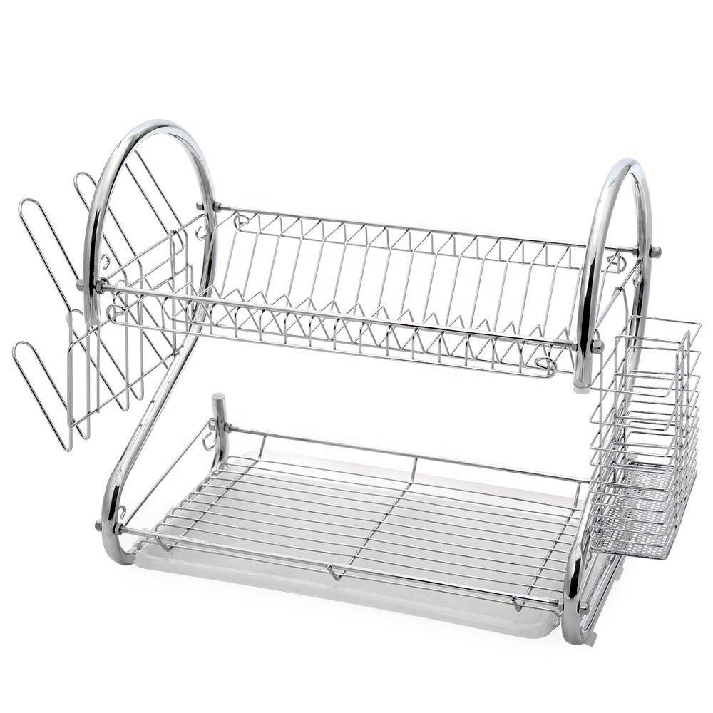 Kitchen stainless steel dish rack holder storage holder rack drying plate rack
