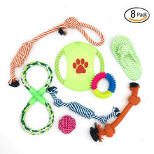 Pets Dog Toy Set for Large Dogs and Aggressive Chewers - 7 Nearly Indestructible Cotton Ropes