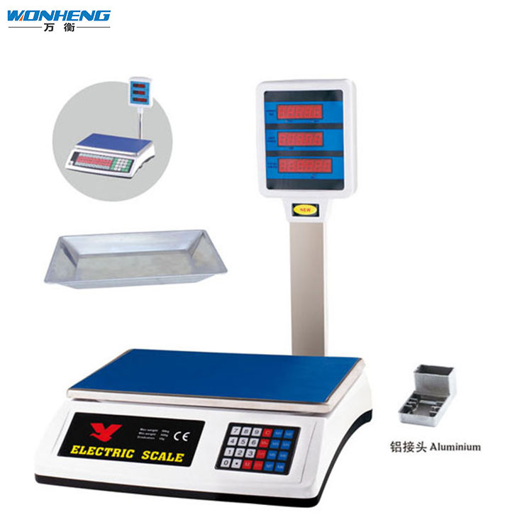Attractive Price Battery Hanging Meat Weighing Price Computing Scale With Pole <span class=keywords><strong>50kg</strong></span>
