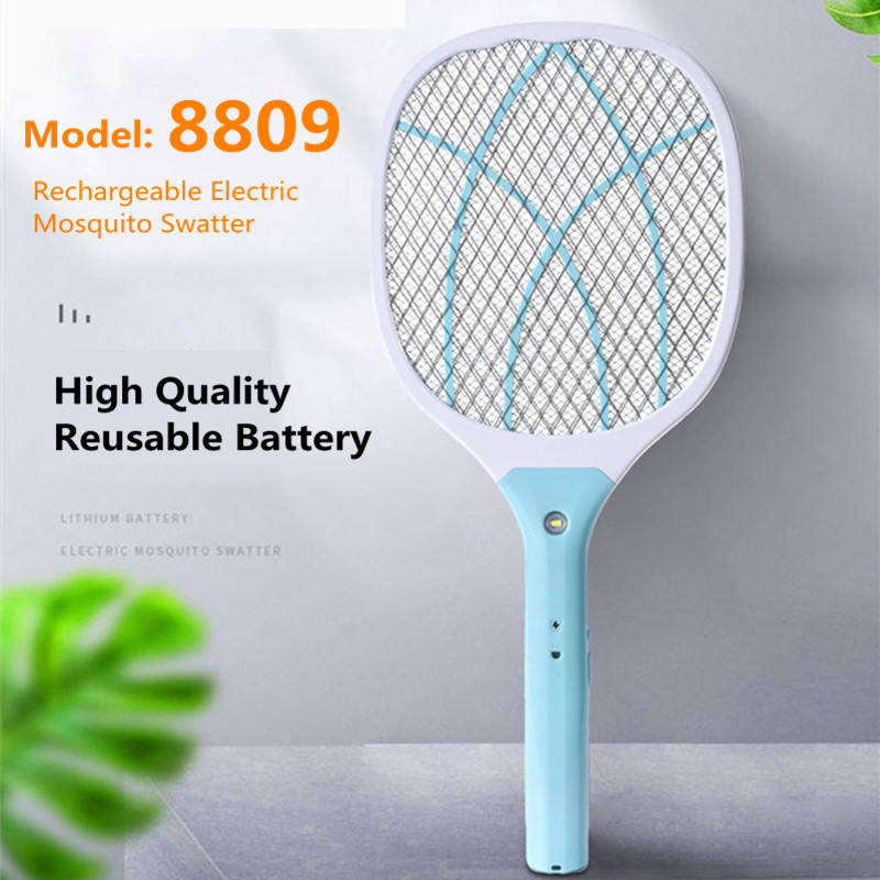 2020 NewデザインRECHARGEABLE Charger Fly Mosquito Racketバッテリ電源電子蚊たたき