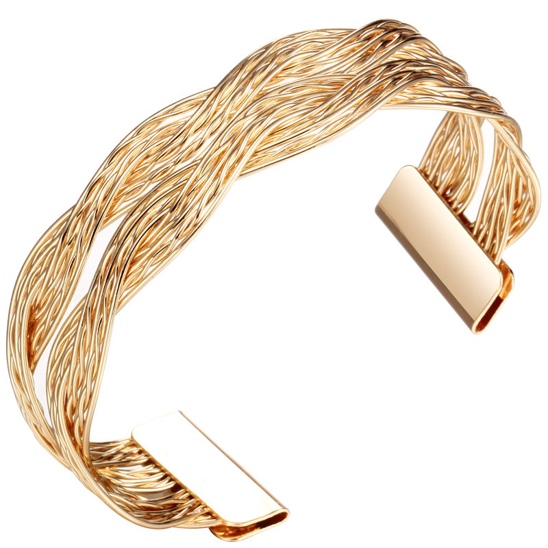 2019 Limited Bracelets New Designer Gold/Silver Geometric Bangle Charm Open Bangles For Women Brand Bijoux Factory Wholesale