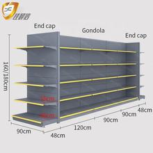 Single&Double-sided Grocery  Display Shelf /Rack Retail Shelving/Storage Shelf for Convenience Store