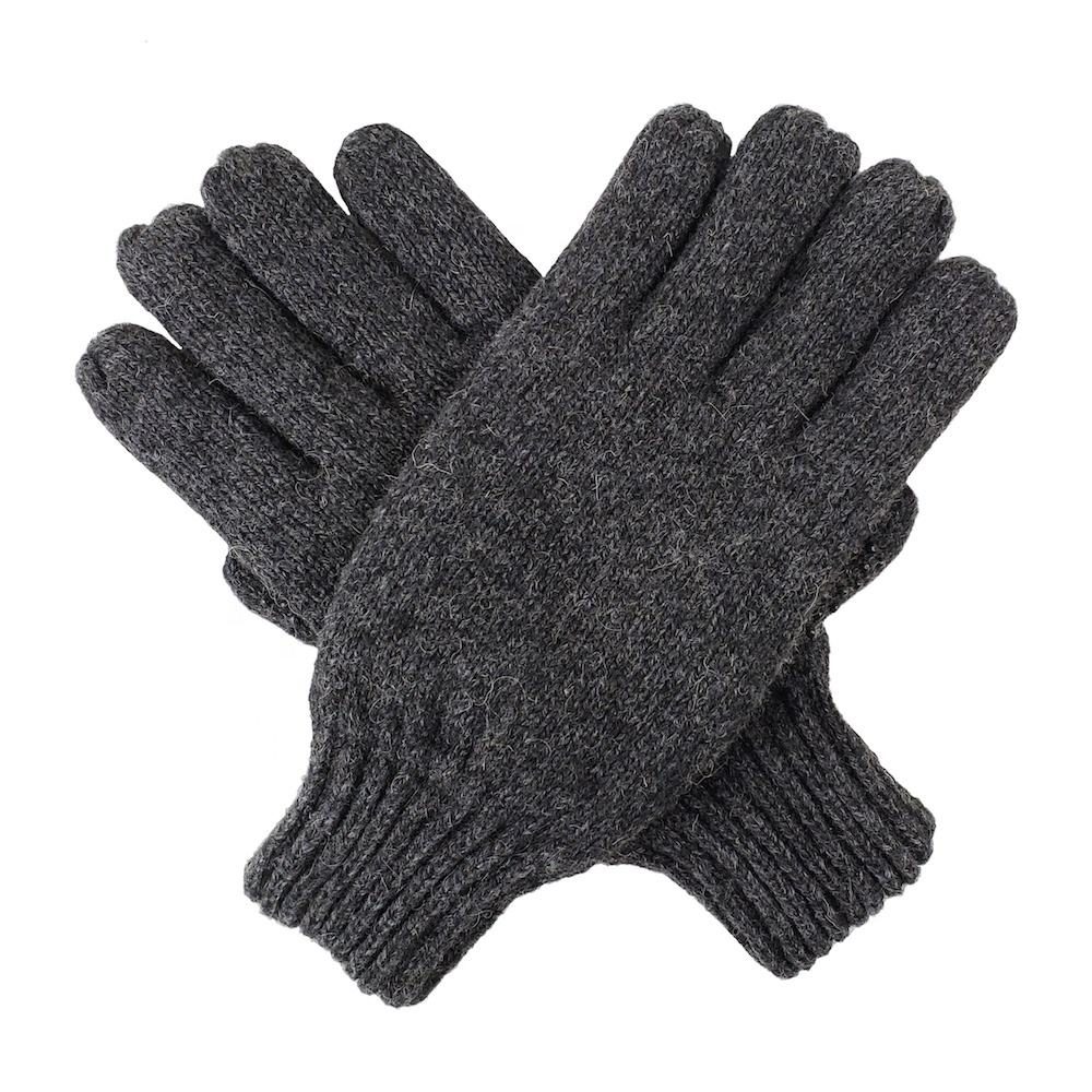 Bruceriver Mens Wool Knitted Ragg Gloves With Thinsulate Warm Lining