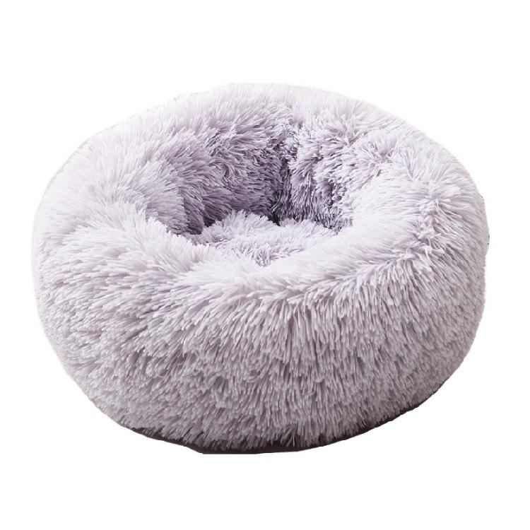 Dog Bed Comfortable Donut Round Dog Bed Ultra Soft Washable Dog and Cat Cushion Bed