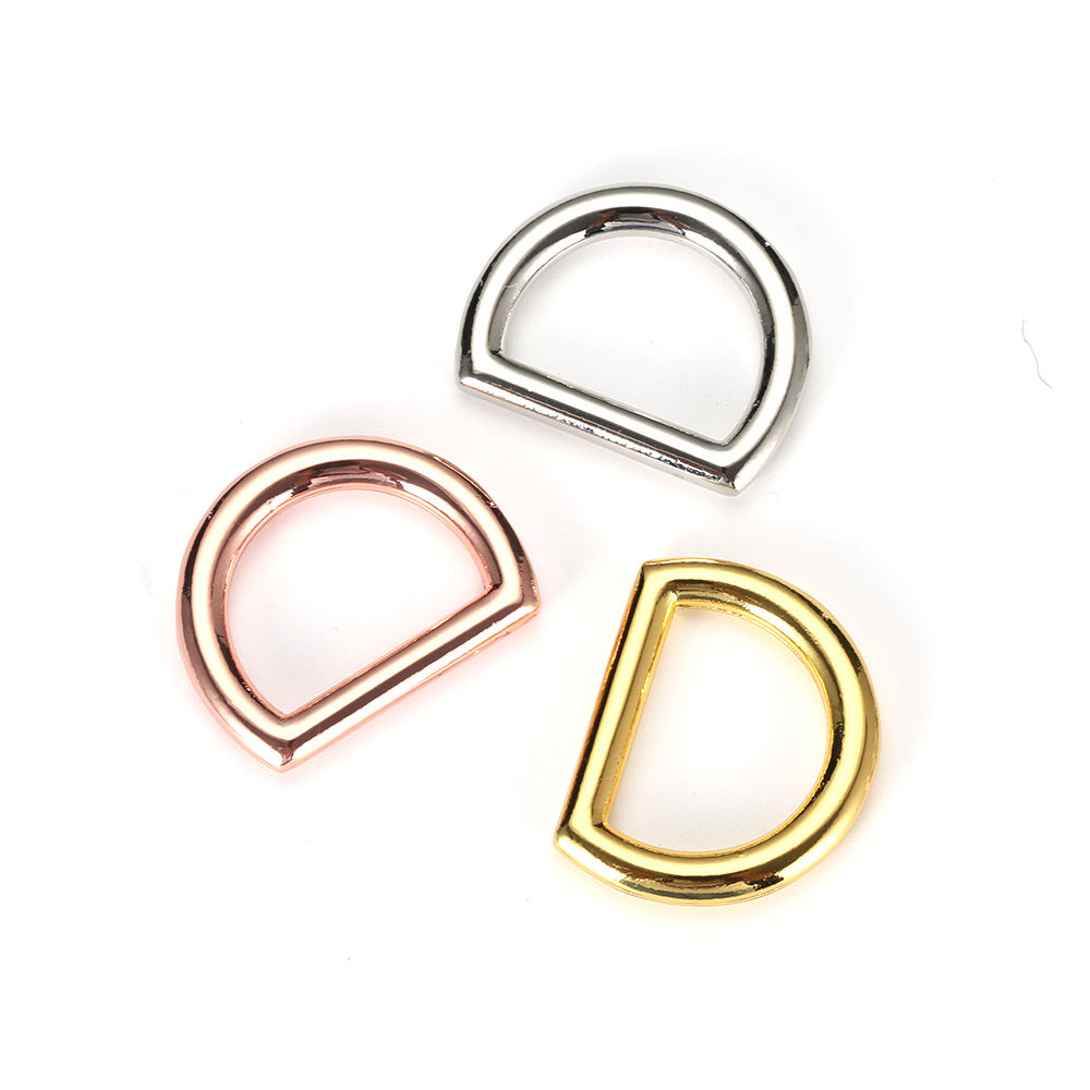 Metal bag hardware accessories nickel handbags zinc alloy D-Ring Shape buckle