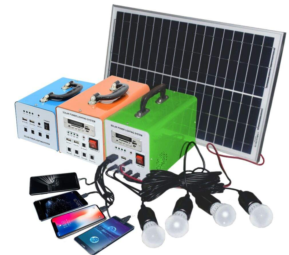 12AH 10W/20W/30W50W mini solar led lighting system for indoor //kit solar panel