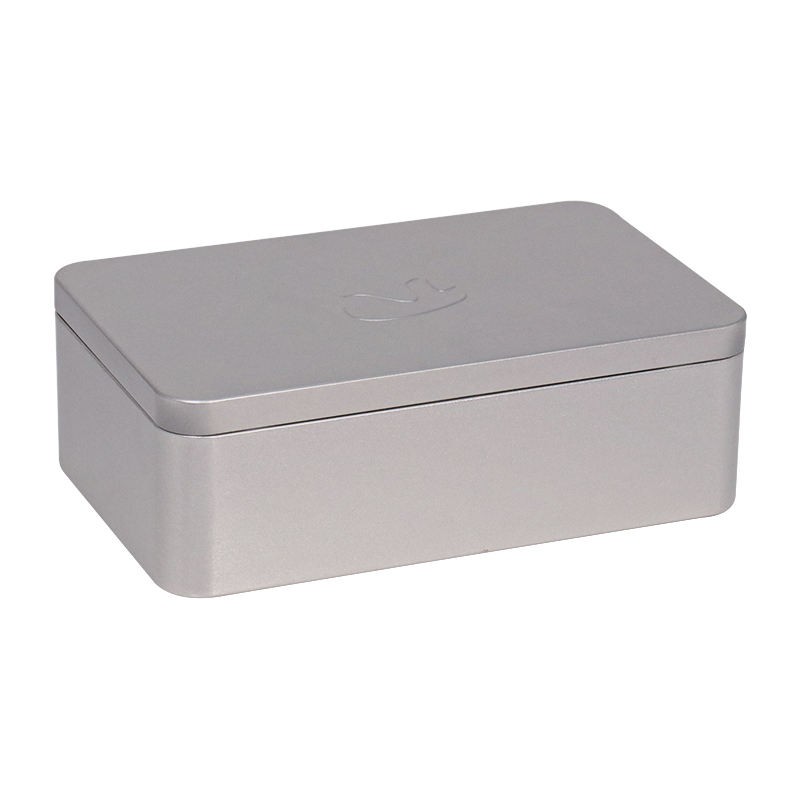 Removable lid custom chocolate plain in silver big tin box
