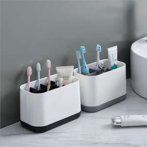 bathroom shelf debris rack Toothbrush toothpaste detachable storage rack