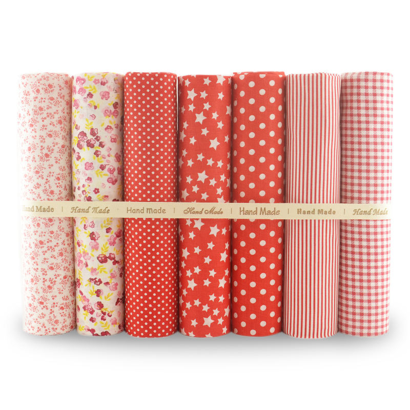100% cotton Fat Quarter Red Series fabric bundles Cut Pieces 46x56cm Size for sewing bags DIY clothes