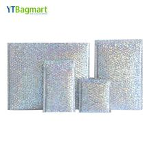 Glitter Bubble Envelope Mailing Bags Rainbow Metallic Plastic Poly Silver Holographic Bubble Mailers