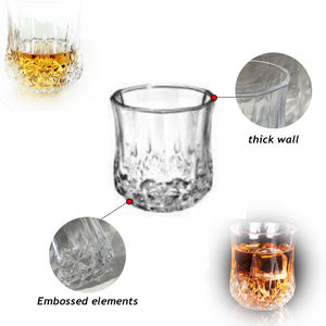 Home whisky glassware clear glass bottles for beer
