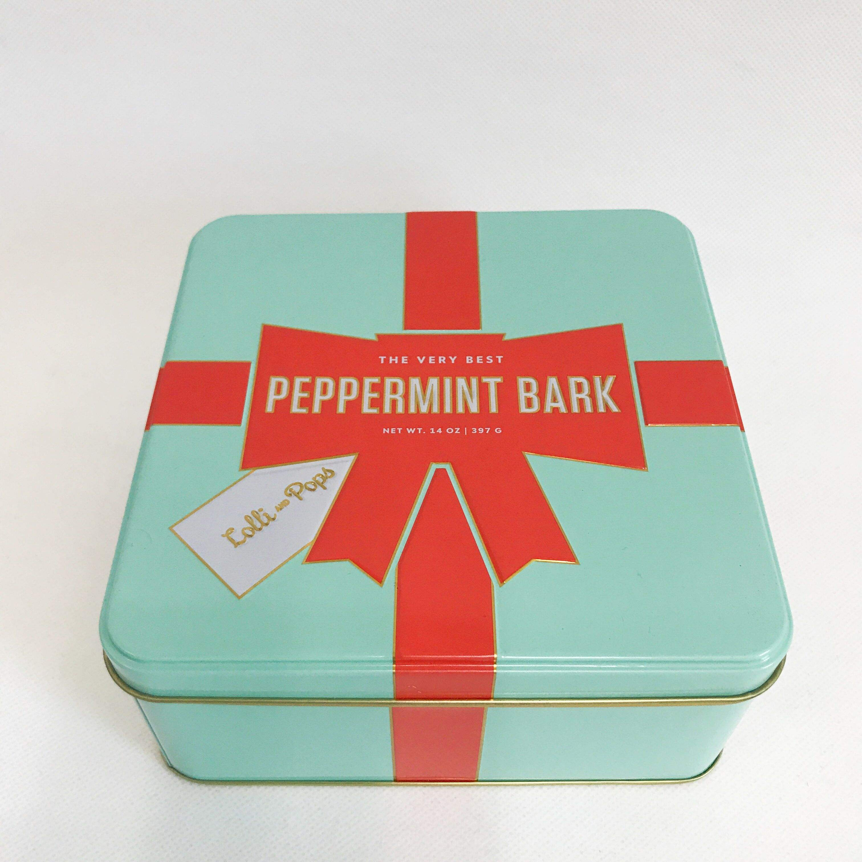 Pretty design square shape tin can metal gift box biscuit and cookie tin can