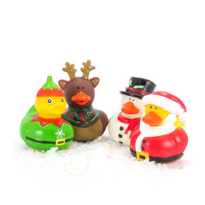 Christmas holiday gift EN71 mini kids custom wholesale floating bulk rubber bath duck