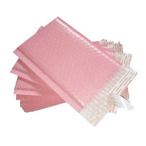 Light pink poly bubble mailers air bubble cushioning wrap envelope
