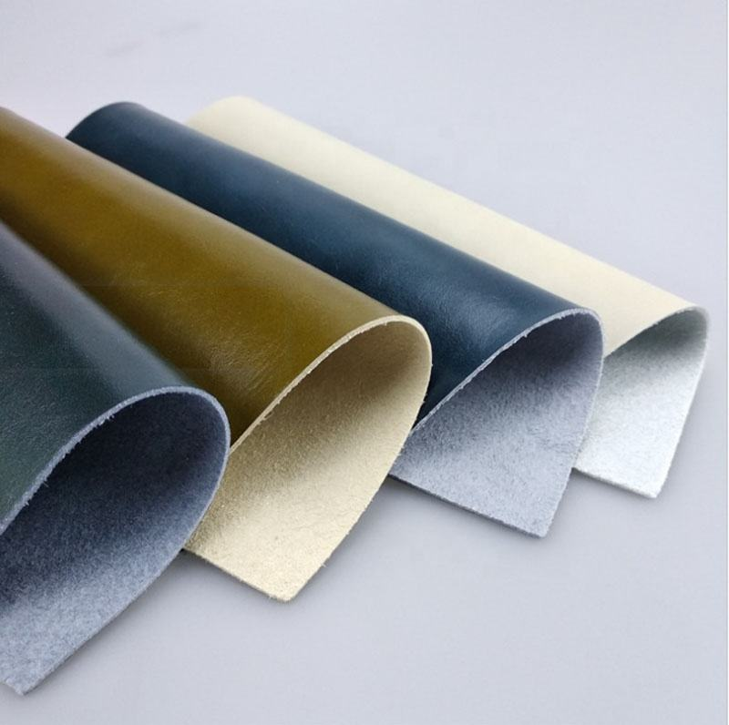 Waxy process PU Material and Nonwoven Backing Technics Microfiber Leather