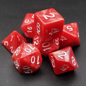 Table game RPG DND multi-faceted 7-piece set of two-color suit dice