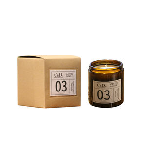 C&D 150G Scented Candle in glass Jar 100% natural soy wax birthday candles scented luxury