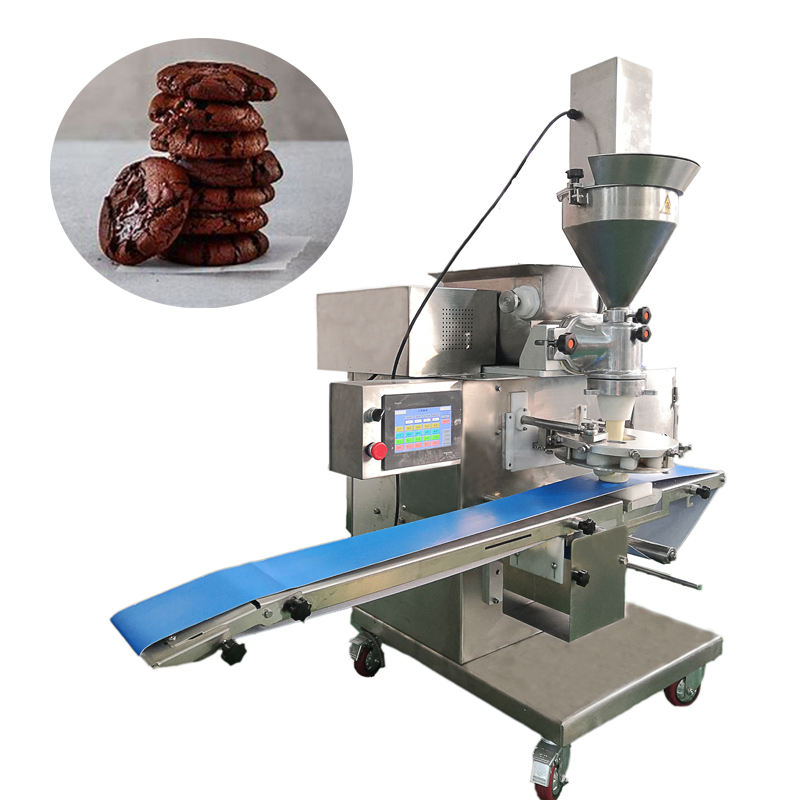 Good price encrusting filled cookies biscuit making machine small size for snack food