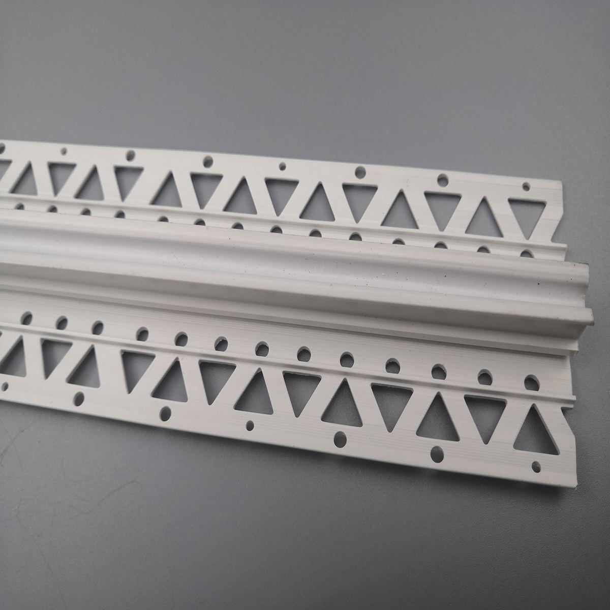 Plastique blanc uPVC Pvc Protection Strip Angle Corner Protector Bordure Blanc 2500 mm