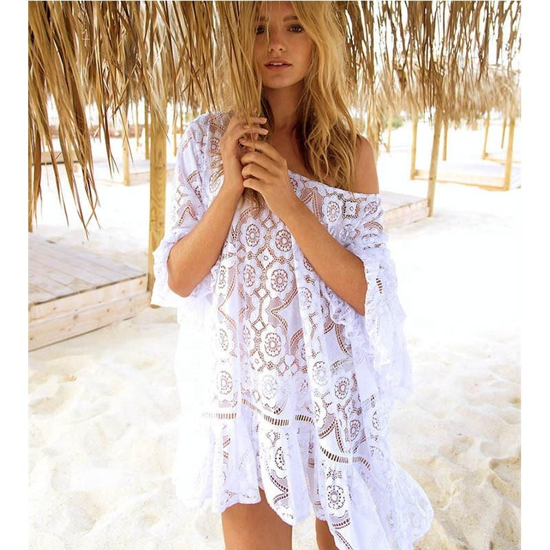 Beach Cover up Tassel Tunics for beach Women Plus size Swimwear Cover ups Crochet Bikini Cover up Beach wear