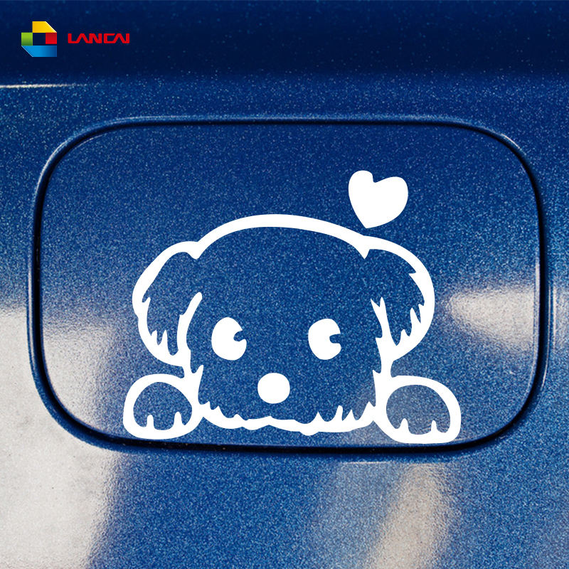 High quality baby pet cute dog cartoon window decals funny animal vinyl car stickers accessories