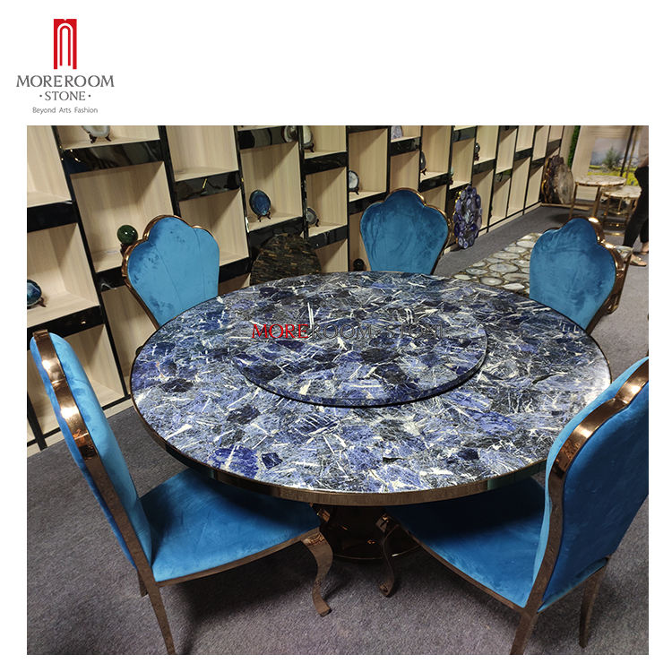 Luxury Sodalite Blue Marble Stone Hotel Và <span class=keywords><strong>Đồ</strong></span> <span class=keywords><strong>Nội</strong></span> <span class=keywords><strong>Thất</strong></span> Gia Đình
