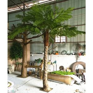 Indoor Tuin Decor Plastic Bonsai Bomen Nep Kunstmatige Sago Boston Fern Palm Boom Planten Voor Verkoop