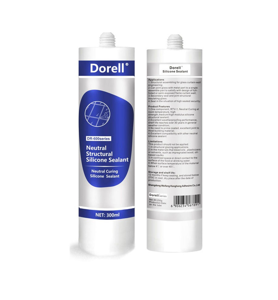 MOQ 500 cartons dorell organic silicone adhesive exteme glue construction sealant 15 days for delivery on sale