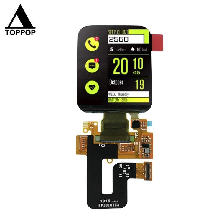 1.78 inch 368*448 Square IPS OLED Screen AMOLED Display Watch TFT LCD Module with CTP Built in Capacitive Touch Panel MIPI SPI