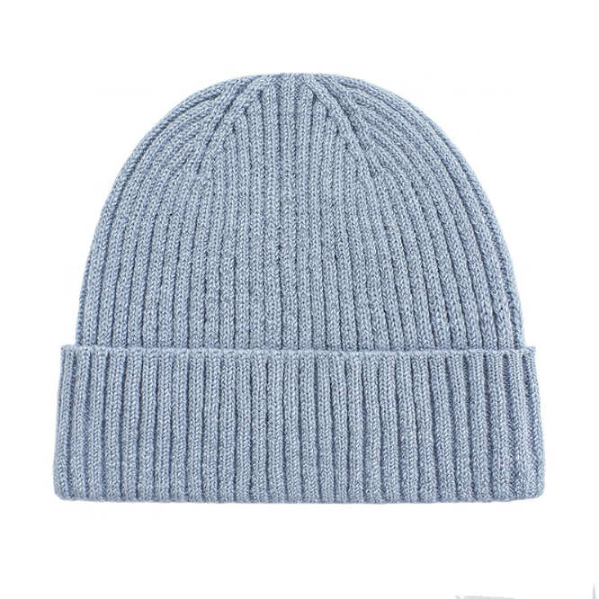 High Quality Warm Custom Ribbed Cable Knitted Beanie