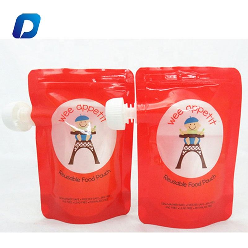 Custom Drink Food Spout Pouch Plastic Liquid Stand Up Pouch With Spout