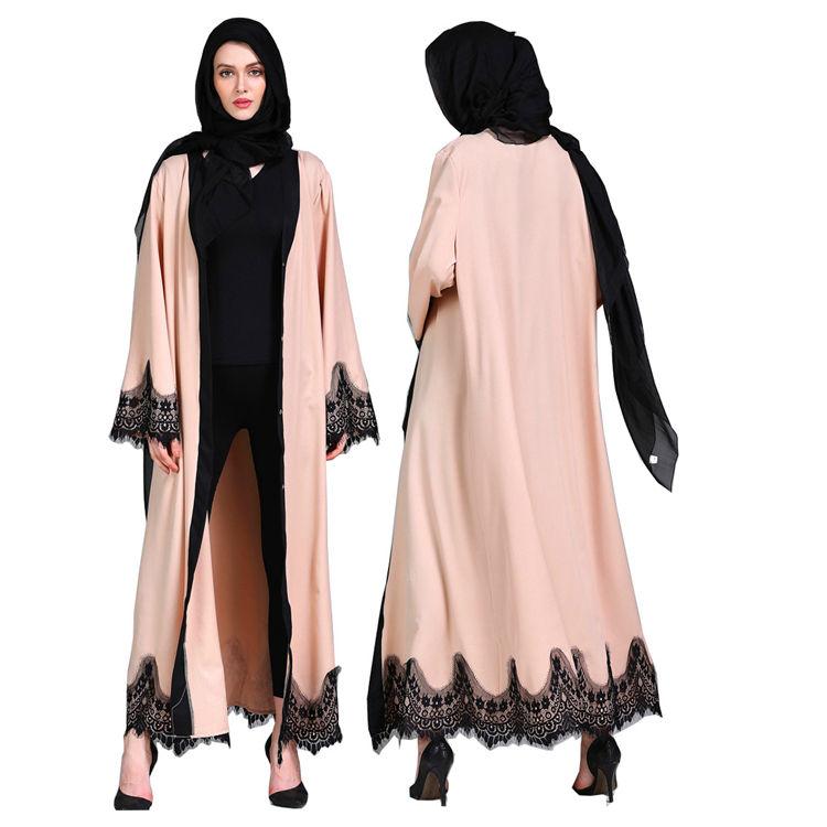 Egyptian Plain Woman Jilbab Materials New Design Clothing Muslim Abaya Fashion Women Weeding Dress Turky Dresses Islamic 26Cm